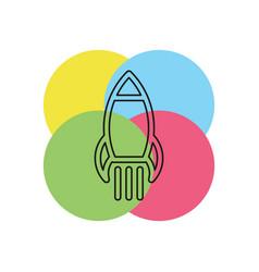 business finance start up rocket entrepreneur vector image