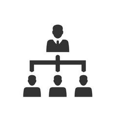 Business hierarchy icon vector