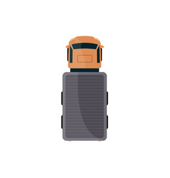 cargo lorry or truck vehicle top view flat vector image