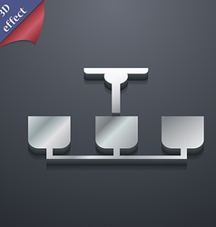 Chandelier Light Lamp icon symbol 3D style Trendy vector