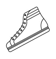 Classic sneaker boot vintage sport vector