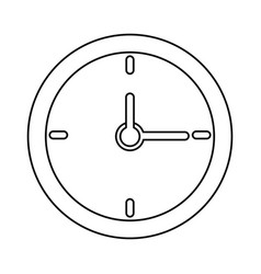 Clock time school thin line vector