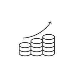 Coins stack related line icon vector