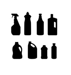 collection of cleaning product household vector image
