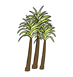 Comic cartoon palm tree vector