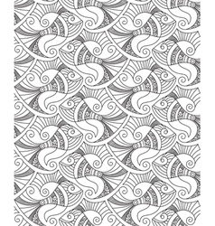 Decorative fish seamless pattern vector