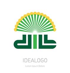 Dill - original lettering logo organic logotype or vector