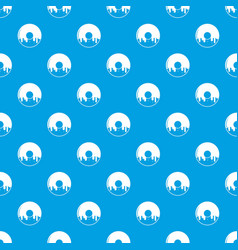 donut pattern seamless blue vector image