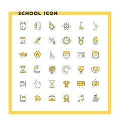 Education and school flat design icon set student vector