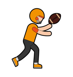 Ethlete practicing american football avatar vector