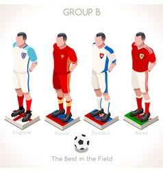 EURO 2016 Championship GROUP B vector image vector image