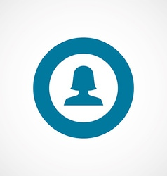 female profile bold blue border circle icon vector image