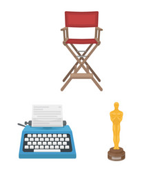 Films and cinema cartoon icons in set collection vector