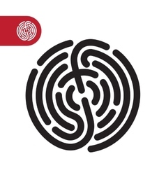 Fingerprint logo icon vector