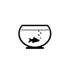 fish aquarium icon vector image