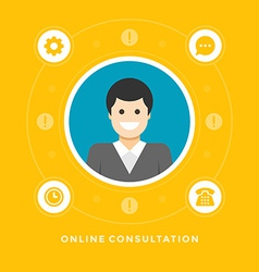 Flat design business concept vector image