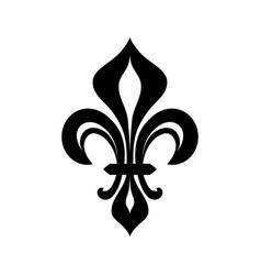 fleur-de-lys flower de luce royal heraldic lily vector image