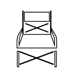 Folding chair it is black icon vector