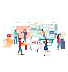 furniture store sale promotion flat vector image