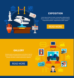 Gallery and exposition banners vector