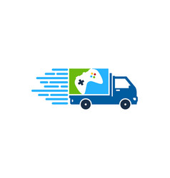 game delivery logo icon design vector image