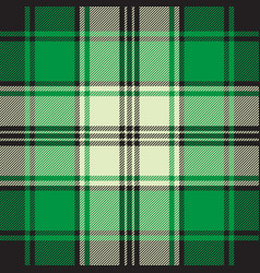 green check plaid seamless fabric texture vector image