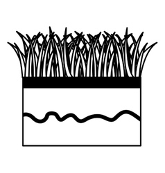 ground and grass icon vector image