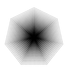 Heptagon halftone geometric shapes seven vector