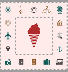 ice cream symbol icon elements for your design vector image