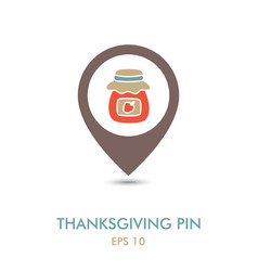 jam jar mapping pin icon harvest thanksgiving vector image
