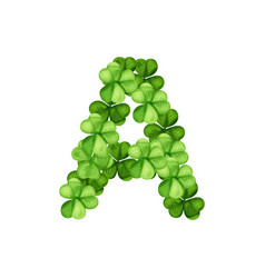 letter a clover ornament vector image