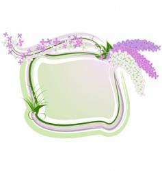 lilac framework vector image