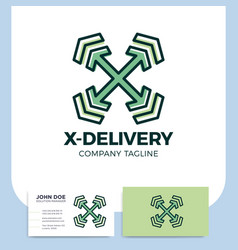 logistic delivery courier transport service logo vector image