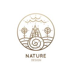 Logo landscape vector