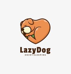 logo lazy dog simple mascot style vector image