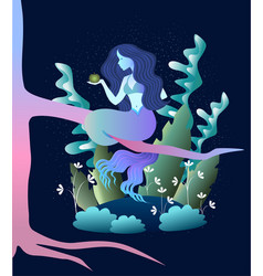Magic mermaid concent vector