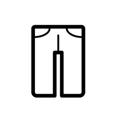 Man pants icon black and white man clothes vector
