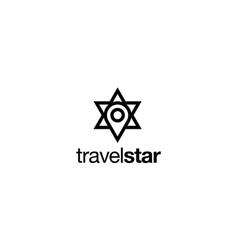 map pin with star logo design concept vector image