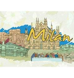 Milan doodles vector