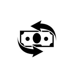 Money convert financial services cash back icon vector