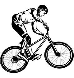 Mtb biker vector
