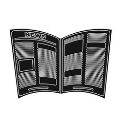 Newspaperold age single icon in black style vector