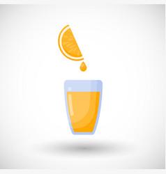orange juice flat icon vector image