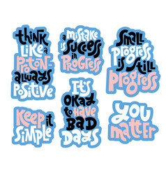 Progress motivation lettering vector