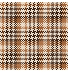 Seamless brown Gingham comprised by threads vector image