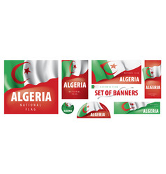 Set banners with national flag of vector