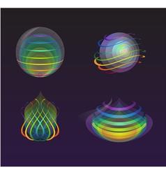 Set of smooth transparent design elements vector image