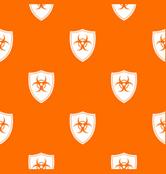 Shield with a biohazard sign pattern seamless vector