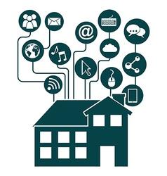 Smart house vector
