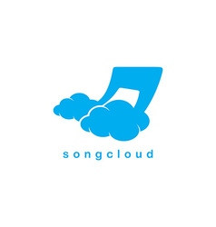 song cloud storage theme vector image